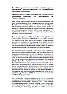 IPVS HPV vaccine statement-German